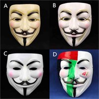 mask for men - V for Vendetta Film Mask Mysterious Smile Face PVC Cosplay Men Mask Halloween Masquerade Party Costume Decoration Promotion SD318