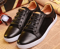 Wholesale New Men s Brand Shoes sport Sneakers Luxury Style Flat Shoes lether fashion crocodile Sneaker Size