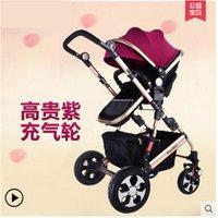 bassinet car seat - Lumiere parapluie de la poussette Luxury Baby Stroller Car Seat Bassinet Carrycot Folding Travel System Infant Prams Pushchair