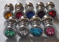 Wholesale New Spiral type small anal plug Stainless Steel Attractive Butt Plug Jewelry Jeweled Anal Plugs