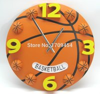 basketball timers - Unique digital clocks d basketball student clock sports style x30cm silence creative wall decoration circle timer
