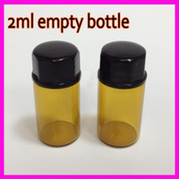 oil bottles - 2015 ml dram Amber Glass Essential Oil Bottle perfume sample tubes Bottles SMALL EMPTY GLASS BOTTLE