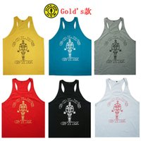 Wholesale Cotton Gym Vest Loose Sports Training Vest for Muscle Men Top Cheap Sleeveless Boys Tanks Best Summer Gym Body Building Tanks L