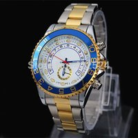 Wholesale Watches Men Luxury Brand Fahion Man Watch Auto Date High Quality Gold with Silver Stainless steel Band Male Quartz watches Man Wristwatch