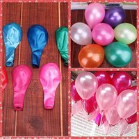 balloons birthday - 12 Inch g Latex Pearly Lustre Balloon Valentine s Wedding Christmas Birthday Baby Shower Party Home Hotel Decoration Supplies