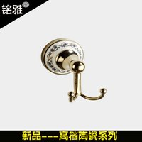 Wholesale Bathroom accessories clothes hook luxury bathroom products made wholly copper pendant welcome