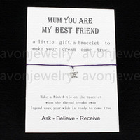 best friendship bracelets - hot sale Wish String Star Charm Bracelet Mum you are my best frined love card Friendship Mothers Day colors