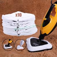 Wholesale 10PCS set Microfiber Reusable Pads For Steam Mop Replacement Cloths Mop Cloth Cover