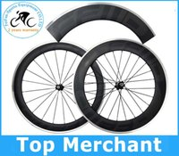 alloy bike rims - 2015 hot sale Alloy brake surface wheels FFWD dark decal full carbon fiber road bike wheelset front rear mm rim wheel wheelset C