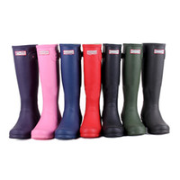 Wholesale 1 Ms glossy Rain Boots Waterproof Women Wellies Boots Woman Rain Boots High Boot Rainboots Hot Sale