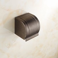 bathroom tissue dispensers - 2015 good quality bathroom hardware tissue paper dispenser toilet paper holder Bronze paper tissue boxes A FN511