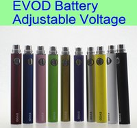 evod battery - 10 EVOD Variable Voltage battery mAh mAh mAh evod twist eGo ecig batteries for MT3 CE4 CE5 atomizer
