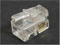 Wholesale Genuine Sanbao P4C phone crystal head RJ11 telephone crystal head crystal head four core telephone crystal head