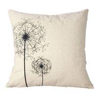 Wholesale Brand new Hot Cotton Linen Square Decorative Throw seat Cushion Dandelion