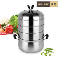 Wholesale direct selling stainless steel four layers steamer soup pot kitchen supplies electromagnetic furnace cooking pots and pans