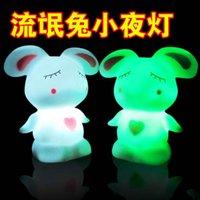 Wholesale Mashimaro colorful lights colorful Nightlight Nightlight lamp LED on rabbit stall goods