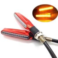 Wholesale Wavors Universal Motorcycle Motorbike Light V LED Turn Signal Light Amber