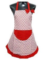 Wholesale Fashion Hot Delicate Cute BowKnot Kitchen Restaurant Cooking Aprons With Pocket for Women