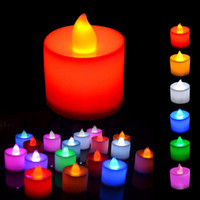 Wholesale Polypropylene Plastic Colors Candle Shape LED Fliker Flameless Candles Light For Wedding Party Holiday Decoration