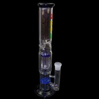 Straight Type arm times - 2016 Honey Comb Glass Bong In Color Blue High Quality Recycler Oil Rigs Tree Arms Perc Hookah Water Pipes Delivery time days