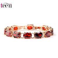 american venus - Teemi AAA Zircon Desginer Good Women Cooper Champagne Gold Bracelet Women High Quality Jewelry Luxury Venus Red Link Bracelets Accessories