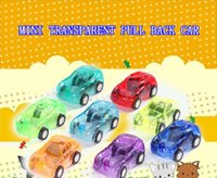 Wholesale 8pcs set Kids Toys Transparent Mini Pull back Car Model Toy for Children Plastic Toys Gifts