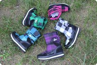 rubber boots - Rubber duck plaid metal scalar rubber duck autumn and winter thermal waterproof snow boots