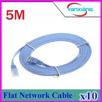 Wholesale 16 FT RJ45 Cat6 Flat Ethernet Patch Network Lan Communication Cable m C1039 DHL freeship ZY HDM