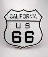 Cheap 1509 10inch U.S. ROUTE 66 Wall Decoration Vintage Metal License Plate Art Bar Home Restaurant Decor Metal Tin Signs J&Y Art JY-012
