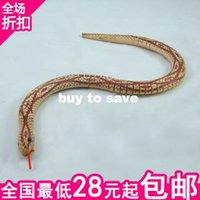 Wholesale 100PCS FAT SHIPPING Toy snake toy wooden toys artificial animal