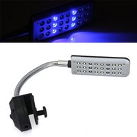 aquarium led lighting - 24 Blue White LED Aquarium Small Fish Water Tank Clip Light Lamp Lighting