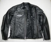 motorcycle leather jacket - new men s destination skull genuine Leather Jacket motorcycle jacket