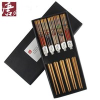 Wholesale Bamboo chopsticks piece set unique chinese style commercial conference gifts
