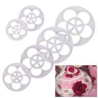 Wholesale New Set Food Grade Material Rose Flower Fondant Cake Cookie Decorating Mold Mould Bakeware Tool Plunger Cutter Sugarcraft