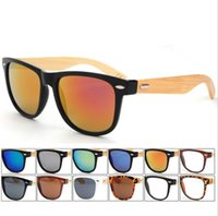 AV bamboo wooden shades - high quality sunglasses for men women bamboo sunglasses shades retro sun glass round frame cheap fashion wooden sunglasses