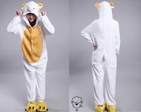 Anime Costumes adult sheep costume - 2015 Cosplay Winter Sheep Kigurumi Pajama Flannel Pajamas Hooded Conjoined Sleepwear Costumes Adult Unisex Onesie Soft Sleepwear CC060511