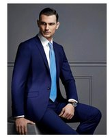 Reference Images best holiday dresses - 2015 HOT Recommend Back Vent Blue Groom Tuxedos Notchedl Lapel Slim Fit Best Men s Wedding Dress Prom Holiday Suit
