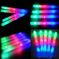 Wholesale 1000pc Led Foam Sticks Foam Glow Stick Flashing Sticks Flashing LED Cheer Props LED Glow Foam Stick Festivals Christmas LED Light Sticks