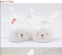 Cheap Hot Selling Rabbit Ear Bags Gift Packaging bag lovely rabbit bags decoration birthday wedding party candy packing favors High Quality