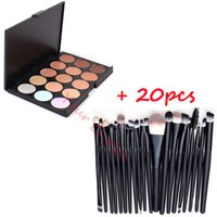 Wholesale New Colors Contour Face Cream Makeup Concealer Palette Powder Brushes Eyeshadow Brushes
