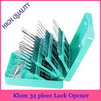 Wholesale Klom Pieces Lock Pick Hook Tools Set Lock Opener blue Locksmith Tools professional locksmith supplies