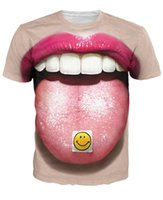 acid trip - Acid Tab T Shirt Miley Cyrus Mouth Emoji Trips vibrant Funny t shirt Unisex Women Men Sport tops Summer Style tees pullover