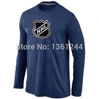 amp shirts - Hockey T Shirt NHL Big amp amp Tall Logo Long Sleeve men T Shirt mix order Stretch cotton
