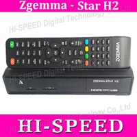 Wholesale 10pcs original Enigma2 linux os Combo decoder Zgemma Star H2 HD DVB S2 DVB T2 C Satellite TV Receiver no have boot problem