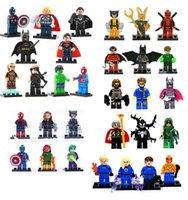 Wholesale Mini Figures set revengers super hero ironman batman Fantastic Four Building Blocks toys birthday gift
