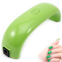 Wholesale Beautiful w UV nial lamp nail Art Gel Polish Lamp Led UV Light Dryer Nail Finger dry stock in US DE CA AU