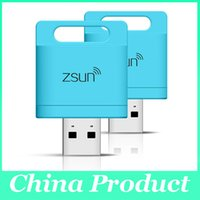 Wholesale Mini Zsun Wireless Wifi Smart Card Reader Extended Phone Memory U Disk Mobile Storage USB Flash Drive For Android IOS Phone PC