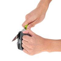Wholesale Hand held Knife Sharpener Lightweight High alumina Porcelain Portable Knife Sharpener Two Stage Ceramic Sharpener Hot Sale