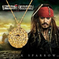 antique pirate ship - Fashion Jewelry Antique Bronze Plated Alloy Aztec Coin Pendant Necklace Pirates of the Caribbean Long Necklace Colors gift