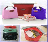 Wholesale Zipper Insulated Thermal Bag Insulation Bento Picnic Lunch pouch fast food box Handy cooler bag keep warm cooler lunch bag